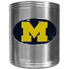 Michigan Wolverines Insulated Stainless Steel Can Cooler Coozie Tailgating BBQ