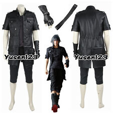 Final Fantasy XV Noctis Lucis Caelum Black Cosplay Costume Nocturne Fancy Dress