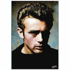 James Dean Pop Art Abstract Metal Painting Giclee Contemporary Wall Decor