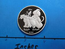 Disney Aladdin Genie Abu Rajah Sultan 999 Silver Coin Very Rare Only 1 On Ebay