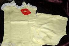 Schiesser Original 50er Jahre Baby Garnitur Set Hemd Höschen Slip Gr. 116 Gelb
