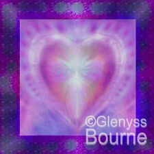 SACRED HEART of LOVE Spiritual Healing Angelic Painting Glenyss Bourne Angel Art