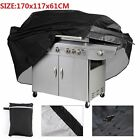 Black Large BBQ Cover Outdoor Waterproof Barbecue Garden Patio Grill Protector