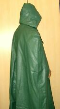NEW! Men's Military Rubber PVC Rain Jacket Coat Cape + Hood 52 / UK 42 / Large