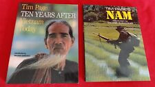 GREAT PAIR OF VIETNAM WAR PICTORIAL HISTORIES-NAM AND TEN YEARS AFTER-TIM PAGE