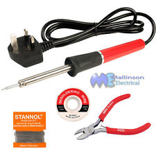 Low Cost Basic Soldering Kit, Ideal for repair work, Solder Braid and Cutters