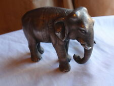 ANTIQUE LOW GRADE INDIAN SILVER FIGURE FIGURINE STATUE ELEPHANT  501g