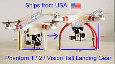 Red Tall Landing Gear for DJI Phantom 1 2 Vision Wide and High Ground Clearance