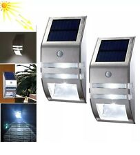 2x Wireless PIR Motion Sensor Solar LED Security Flood Wall Garden Outdoor Light
