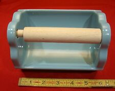 Vintage Glossy Blue Ceramic NOS recessed…tile-in-flush... Toilet Paper Holder