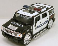 "5.5"" Metal World 1:35 Diecast Model Hummer H2 Custom Police Department SUV #166"