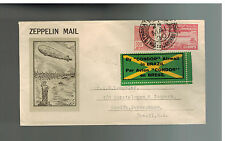 1930 Brazil Graf Zeppelin cover to USA Private Condor Stamp Roessler Cachet