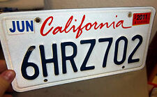 State of California Lipstick License Plate Embossed Red White & Blue, 6HRZ702