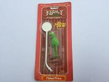 Vintage 1979 Jim Henson's MUPPET Stick Puppet KERMIT the Frog Fisher Price MOC