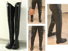 Kohshin Gummi-Watstiefel aus Japan, Black All Rubber Hip Waders Boots EU 42 UK 8