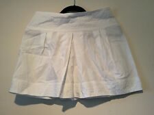 SEE BY CHLOE mini skirt size 8 UK White Designer Festival Boho USA 4 authentic
