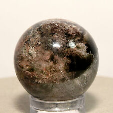 24mm Natural Red Green Chlorite Quartz Sphere Phantom Ghosts Crystal Stone Ball