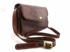 THE BRIDGE classic chestnut leather messenger handbag crossbody or shoulder