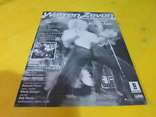 WARREN ZEVON - STAND IN THE FIRE!!1 FRENCH PRESS ADVERT