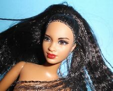 NUDE*ETHNIC HOTTIE*MBILI FACE*CRIMPED*HYBRID-RE-BODIED BARBIE FREE SHIPPING
