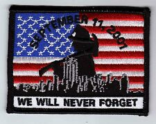City of New York NY Firefighters 9-11-01 We Will Never Forget black patch - NEW!