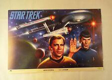 Vintage 1994 Star Trek Limited Edition Cardboard Poster with Kirk & Spock