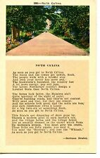 No'th Ca'lina-North Carolina State-Braley Poem-Road Street View-Vintage Postcard