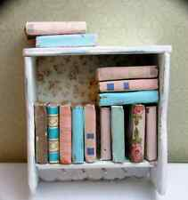 14 SHABBY CHIC VINTAGE Style Books Miniature Dollhouse 1:12 Scale PROP Books