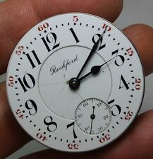 VINTAGE ROCKFORD 18 SIZE 2TONE MOVEMENT POCKET WATCH MOVEMENT & DIAL 1800S