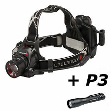 LED Lenser H14.2 Headlamp Head Light + P3 Flashlight Torch Separate Box