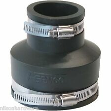 "10-Flexible Fernco Rubber 3"" x 1 1/2"" PVC Plastic Sewer Pipe Connector Coupling"