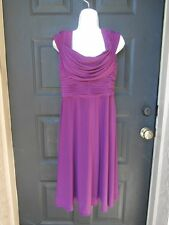 NWT NEW ADRIANNA PAPELL DRESS SIZE 12 MED LARGE PURPLE