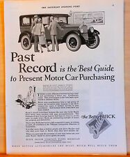 Vintage 1926 magazine ad for Buick - Past Record is Best Guide to Purchasing
