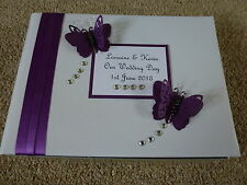 Wedding Guest Book Cadbury Purple butterfly 56 pages lots of colours with box!