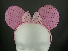 Pink Big Huge bow mouse ears headband hair band accessory kawaii cosplay anime