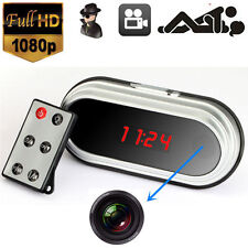HD 1080P Video Spy Alarm Clock Digital Camera Mini Motion Detect DVR Nanny Cam