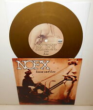 """NOFX louise and liza 7"""" GOLD VINYL Record fat wreck chords"""