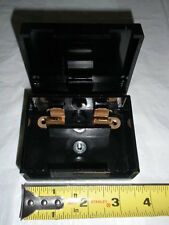 NOS VINTAGE GE BAKELITE FUSE BOX HOLDER PANEL 19D413045 TWO-WAY RADIO 30AMP