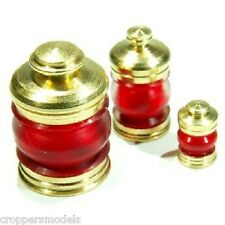 Model boat fitting 1x Brass Masthead Lamp 360degrees 14.5x8mm Red Lens 071-08