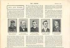 1900 Welsh Baptist, Rev Morris, Captain Christoffers, Mr Bowen Rowlands Qc