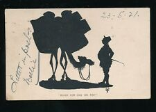 Comic novelty SILHOUETTE Camel 1921 artist drawn u/b PPC by BOOTS