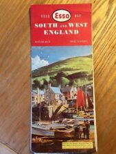 Wales And Midlands Map Esso Vintage Section 4