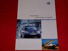 VW Passat Protect spanischer Prospekt von 2002