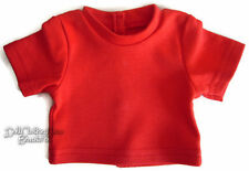 Red T-Shirt Knit Short Sleeve Tee made for Bitty Baby + Twins Doll Clothes