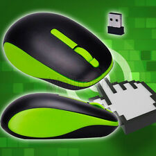 Ergonomisch Green 2.4G USB Mouse Wireless Optisch Mouse 3D Empfänger Gamer US