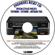 EPSON PX700W TX700W & ARTISAN 700 PRINTER WASTE INK PAD RESET UTILITY NEW CD ROM
