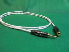 "6 Ft SILVER PLATED 3.55 MM 1/8"" AUDIOPHILE HEADPHONE EXTENSION CABLE."