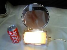 Vintage Mid-Century Acme Chrome Make Up Vanity Shaving Mirror W/ Light & Outlet