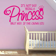 Princess Quote Wall Decal Removable Bedroom Decorations For Girls Room Sticker