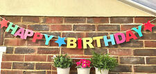 MULTI COLOUR HAPPY 16th BIRTHDAY GARLAND BANNER PARTY BUNTING DECORATION